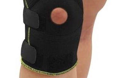 Bandáž LIFEFIT neoprenová na koleno BN303, otevřená černá