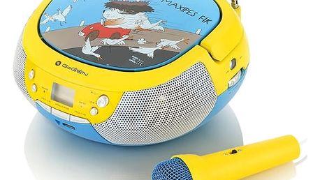 Radiopřijímač s CD GoGEN Maxipes Fík MAXIPREHRAVAC B modrý/žlutý