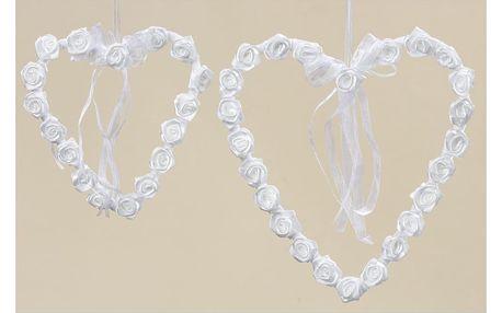 Sada 2 závěsných dekorativních srdcí Boltze