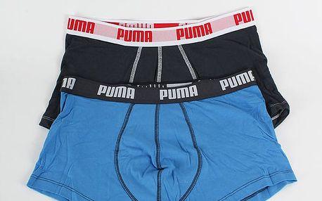 Boxerky Puma Basic Shortboxer 2 Pack blue Barevná