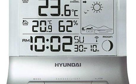 Meteorologická stanice Hyundai WS 2266 stříbrná + Doprava zdarma