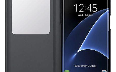 Pouzdro na mobil flipové Samsung pro Galaxy S7 Edge (EF-CG935P) (EF-CG935PBEGWW) černé