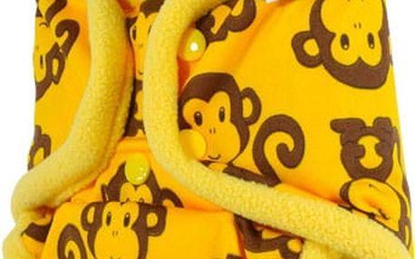 PETIT LULU Svrchní kalhotky patentky - Žluté opičky
