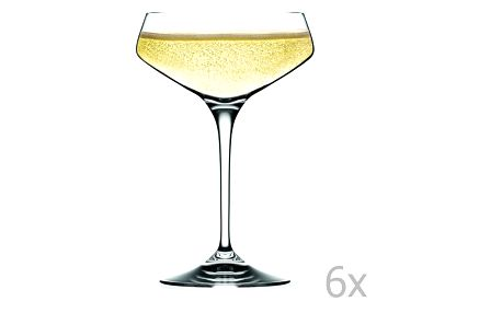 Sada 6 sklenic na sekt RCR Cristalleria Italiana Alessandra