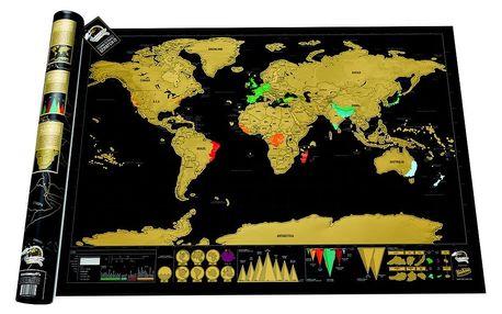 Luckies Osobní mapa světa se stíratelnými políčky - Deluxe Edition LUKSD