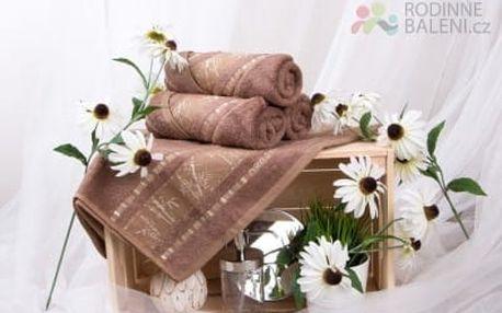XPOSE ® Bambusový ručník MAYA - světle hnědá 50x90 cm