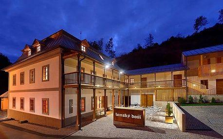 3–4denní wellness pobyt pro 2 s polopenzí a skipasem v penzionu Banský Dom*** na Slovensku