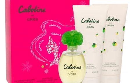 Gres Cabotine dárková kazeta pro ženy toaletní voda 100 ml + tělové mléko 200 ml + sprchový gel 200 ml