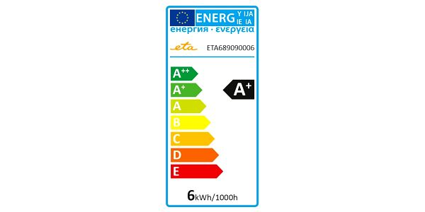 Žárovka LED ETA EKO LEDka bodová, 6W, GU10, teplá bílá (GU10-PR-410-16A)2