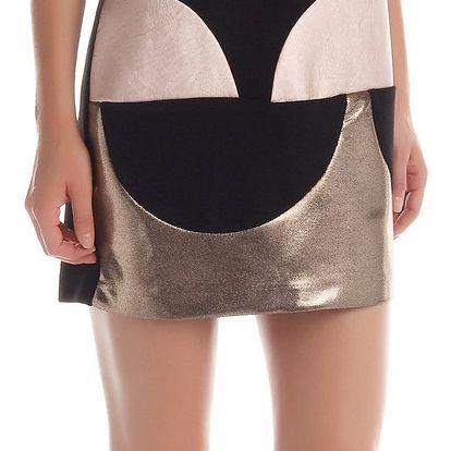 Rinascimento černé šaty s metalickými prvky