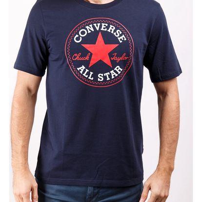 Converse tmavě modré pánské tričko Chuck Patch Tee