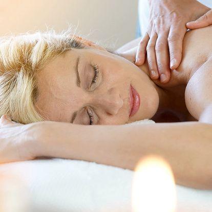 90 minut rozmazlování: relaxační balíček s masážemi a zábaly