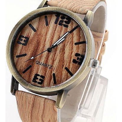 Unisex hodinky v imitaci dřeva - 2 varianty číslic