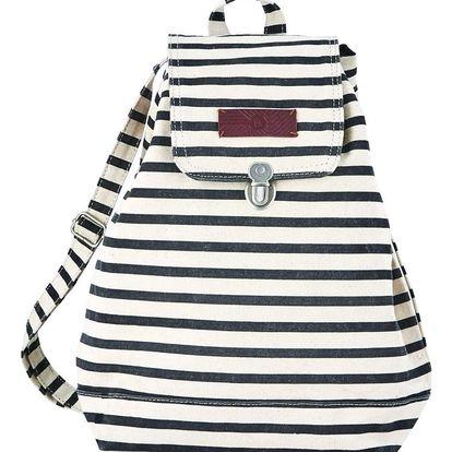 House Doctor Batoh Stripes black/white, černá barva, bílá barva, textil