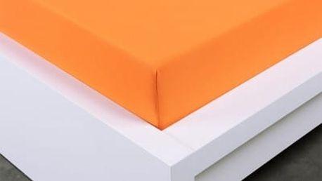 XPOSE ® Jersey prostěradlo Exclusive dvoulůžko - oranžová 140x200 cm