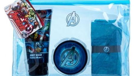 Marvel Avengers 75 ml dárková kazeta sprchový gel 75 ml + gel na vlasy 75 ml + žínka + kosmetická taška