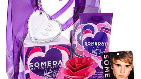 Justin Bieber Someday EDP dárková sada W - EDP 30 ml + tělové mléko 200 ml + osvěžovač místnosti