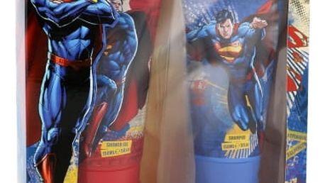 DC Comics Superman dárková kazeta pro děti sprchový gel 150 ml + šampon 150 ml