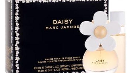 Marc Jacobs Daisy dárková kazeta pro ženy toaletní voda 20 ml + toaletní voda 15 ml náplň
