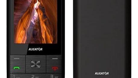 Mobilní telefon Aligator D920 Dual SIM (AD920BS) černý