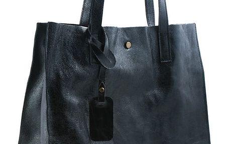 Černá kabelka z pravé kůže Andrea Cardone Caty - doprava zdarma!