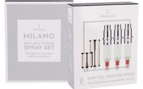Travalo Milano 3x5 ml plnitelný flakón unisex White