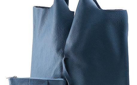 Modrá kabelka z pravé kůže Andrea Cardone Lala - doprava zdarma!