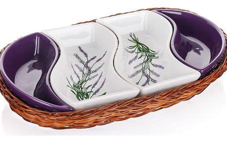 Banguet Lavender Servírovací mísy v košíku 30,5 cm