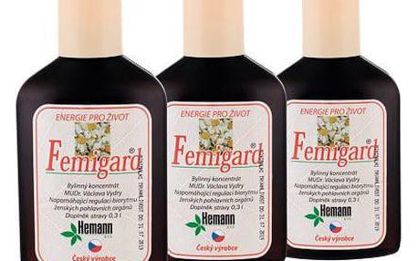 Hemann Femigard přípravek pro zdraví dárková sada W - přípravek pro zdraví kompletní dávka 3x 300 ml
