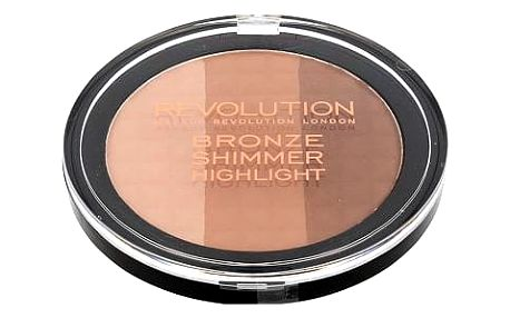 Makeup Revolution London Ultra Bronze, Shimmer And Highlight 15 g pudr W