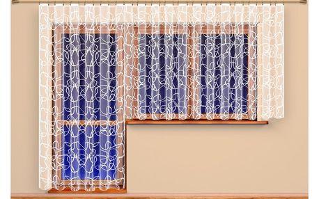 4Home Záclona Terezie, 300 x 175 cm + 200 x 250 cm, 300 x 175 cm + 200 x 250 cm