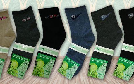 9 párů ponožek z bambusového vlákna