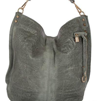 Šedá kabelka z pravé kůže Andrea Cardone Edvige - doprava zdarma!