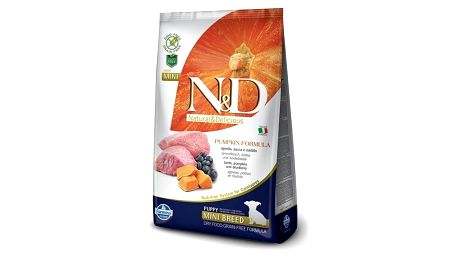 Granule N&D Grain Free Pumpkin DOG Puppy Mini Lamb & Blueberry 7kg + Doprava zdarma