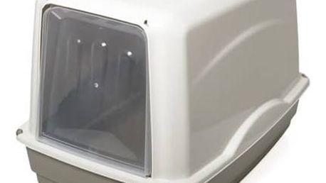 Toaleta Georplast Vicky velká dvířka krytá, plast hnědá