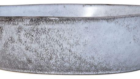 HK living Keramická miska Rustic Grey 19 cm, modrá barva, šedá barva, keramika