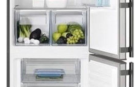 Kombinace chladničky s mrazničkou Electrolux EN3453OOX šedá/nerez + DOPRAVA ZDARMA