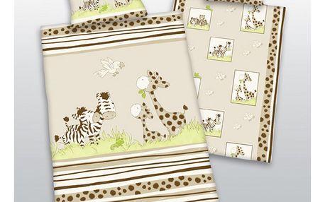 Herding Povlečení do postýlky bavlna Safari, 100 x 135 cm, 40 x 60 cm