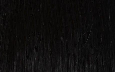 Vlasy s keratinem vlnité - 50 cm uhlově černá