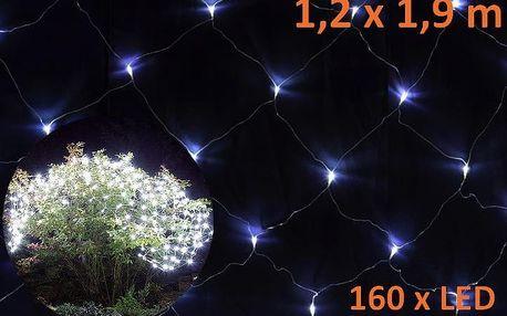 Nexos 579 Vánoční světelný závěs s LED diodami - 1,2 x 1,9 m, studená bílá