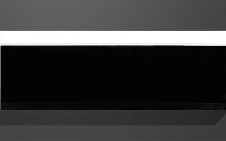 Freestyle - Závěsná vitrína, 1508-73 (bílá/černá vysoký lesk)
