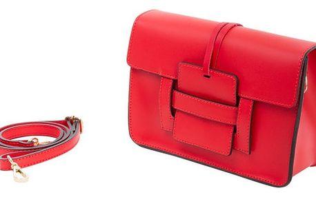 Červená kabelka z pravé kůže Andrea Cardone Paolo - doprava zdarma!