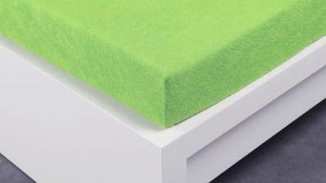 XPOSE ® Froté prostěradlo Exclusive dvoulůžko - letní zelená 180x200 cm