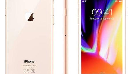 Mobilní telefon Apple iPhone 8 64 GB - Gold (MQ6J2CN/A) + Doprava zdarma