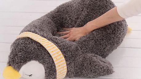 Měkký plyšový polštář Tučňák