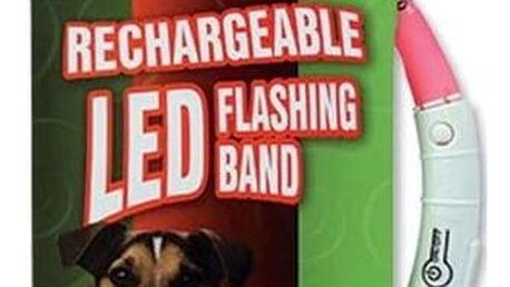 Obojek Dog Fantasy LED světelný 70cm růžový