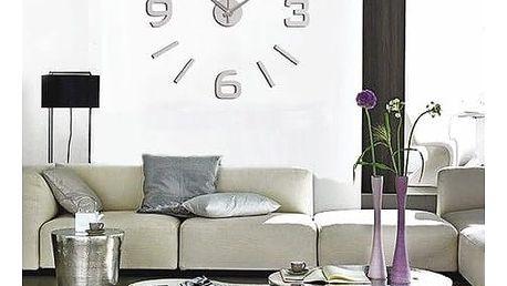 StarDeco Nástěnné hodiny matná stříbrná, pr. 60 cm