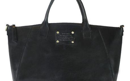 Černá kožená kabelka O My Bag Fly Violet Midi - doprava zdarma!