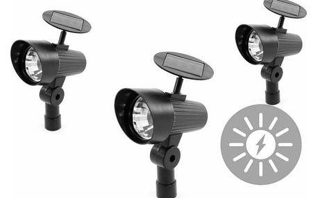 Garthen 313 Sada zahradních solárních LED osvětlení - 3ks reflektorů