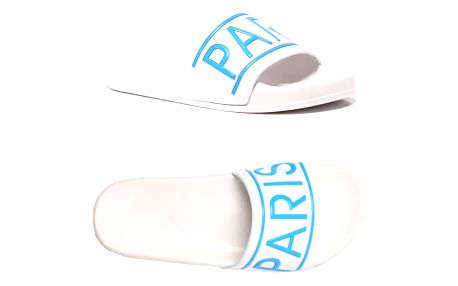 Dámské bílomodré pantofle Paris 015